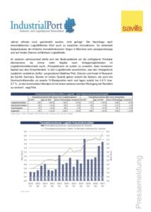 Logistik- und Industrieinvestmentmarkt Deutschland für 1. Quartal 2017
